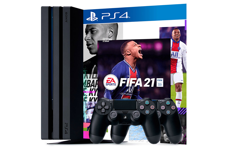 PlayStation 4 Pro, 2 джойстика и игра FIFA 21 [PS4P1J2F21]