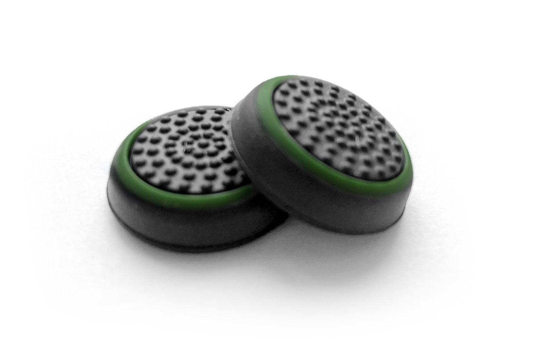 Накладки на стики DualSense зеленый с черным [PS5NSGB]