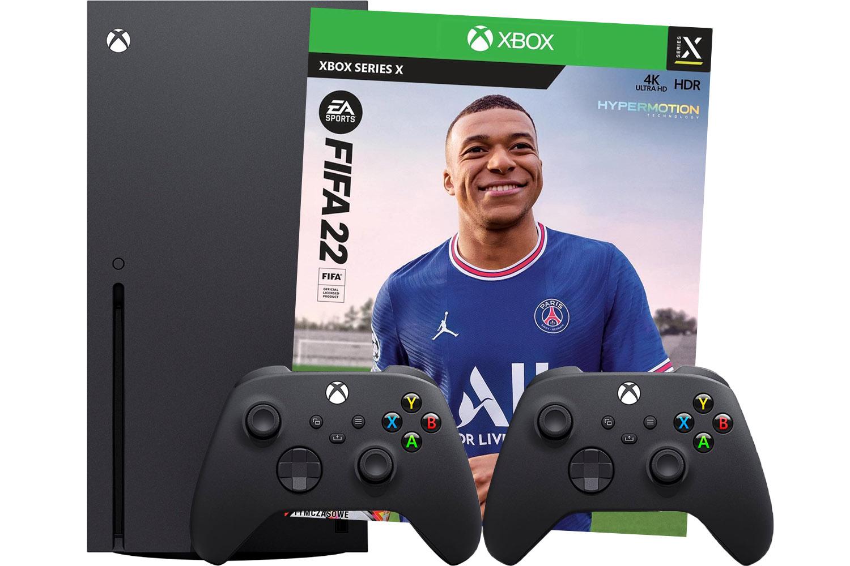Xbox Series X игра FIFA 22 и 2 джойстика черного цвета [XBXeF2J2B]