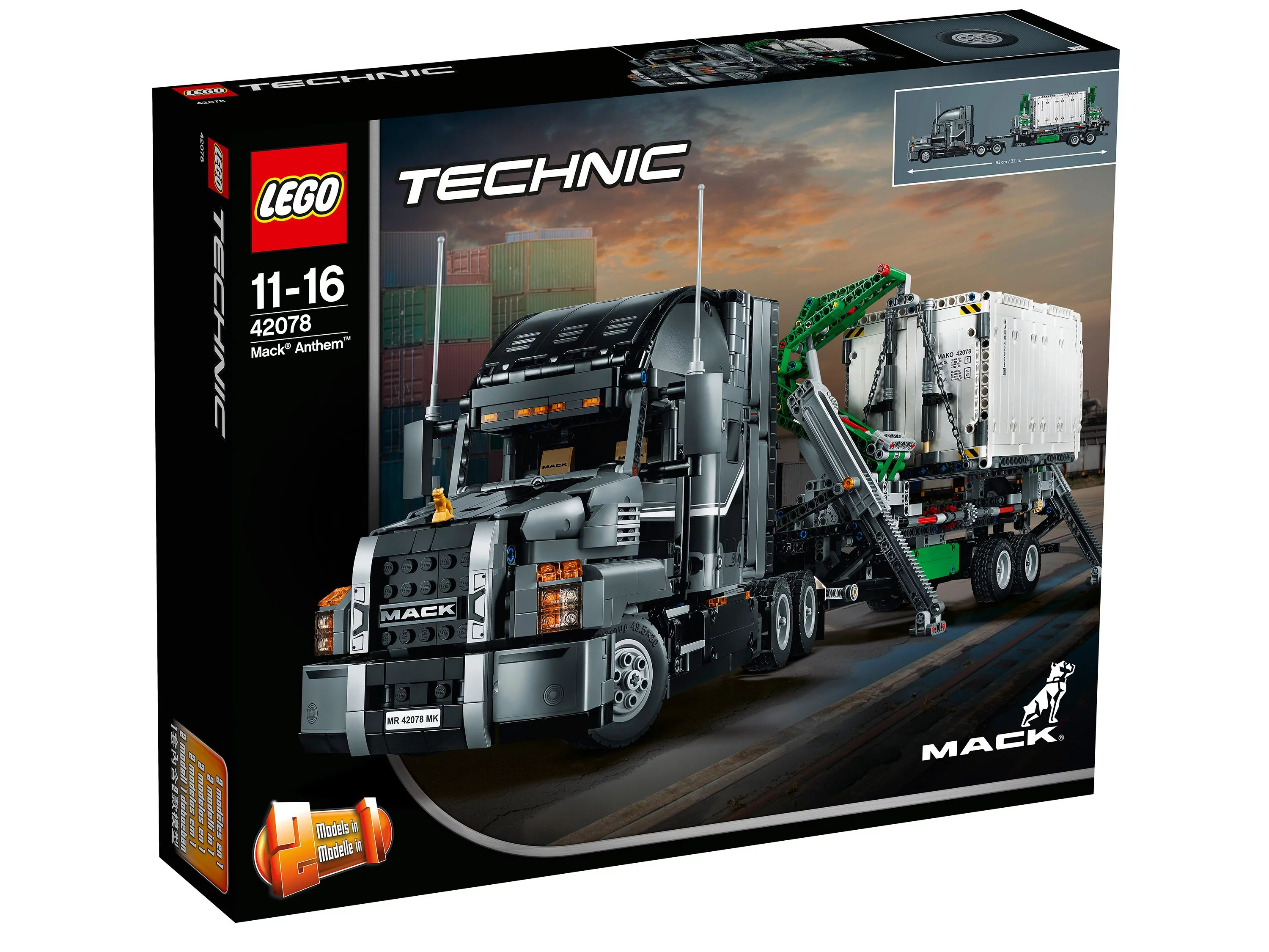 MACK Anthem LEGO Technic 42078 Конструктор