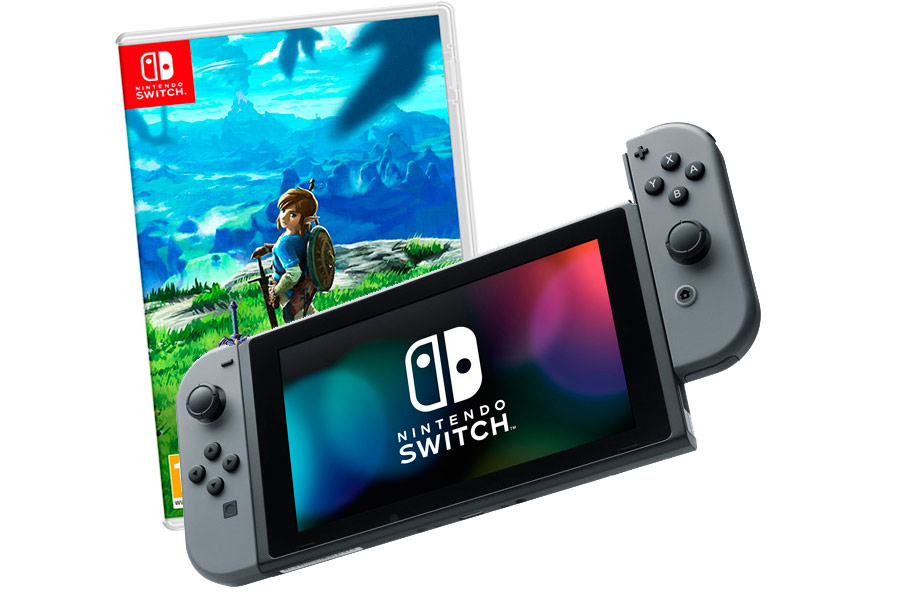 Nintendo Switch Bundle серая и The Legend of Zelda [NSCMGZE]