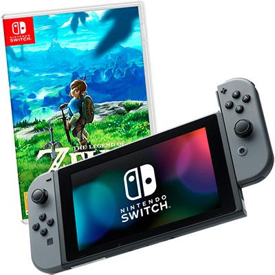 Switch серая и Zelda