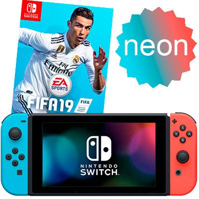Switch неоновая и FIFA 19