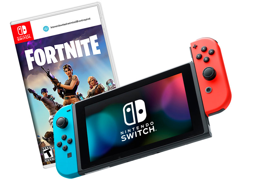 Nintendo Switch Bundle неоновая и Fortnite [NSCFRT]