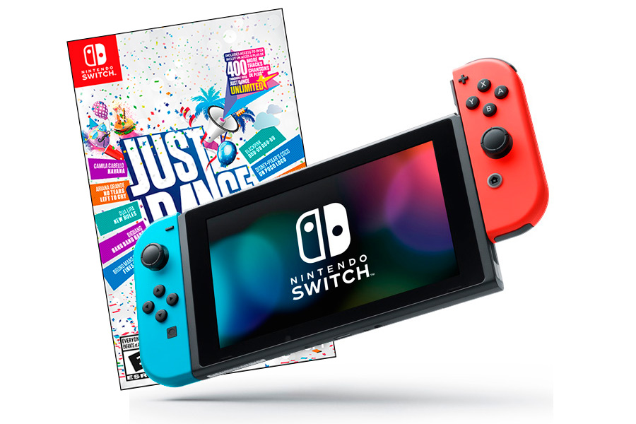 Nintendo Switch Bundle неоновая и Just Dance 2019 [NSCJD9]