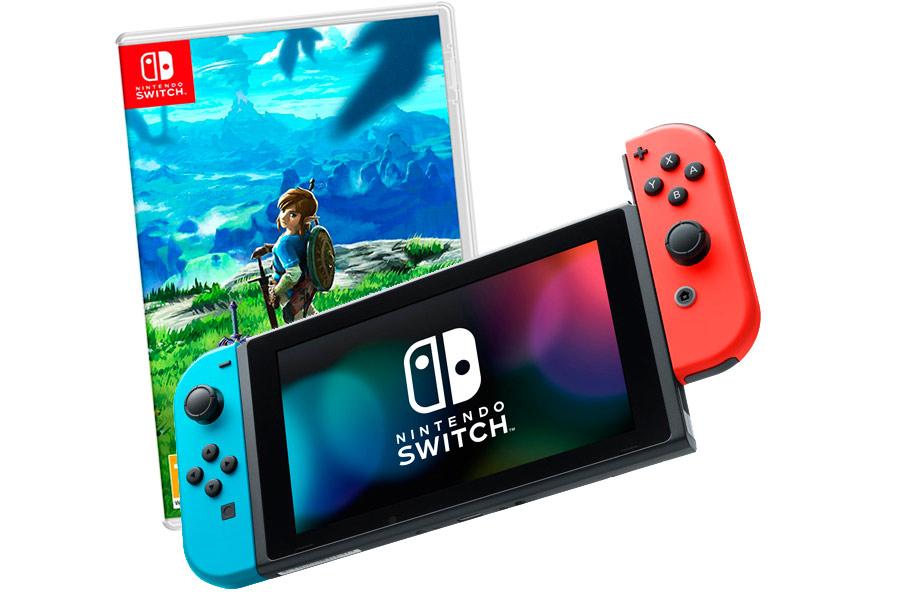 Nintendo Switch Bundle неоновая и The Legend of Zelda [NSCMZE]
