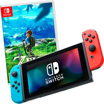 Switch неоновая и Zelda