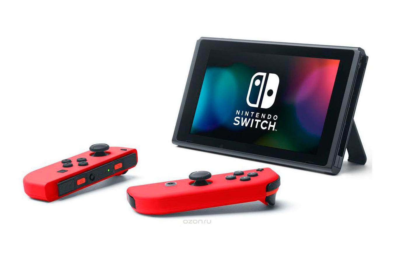 Switch красная и Mario Odyssey изображение 0