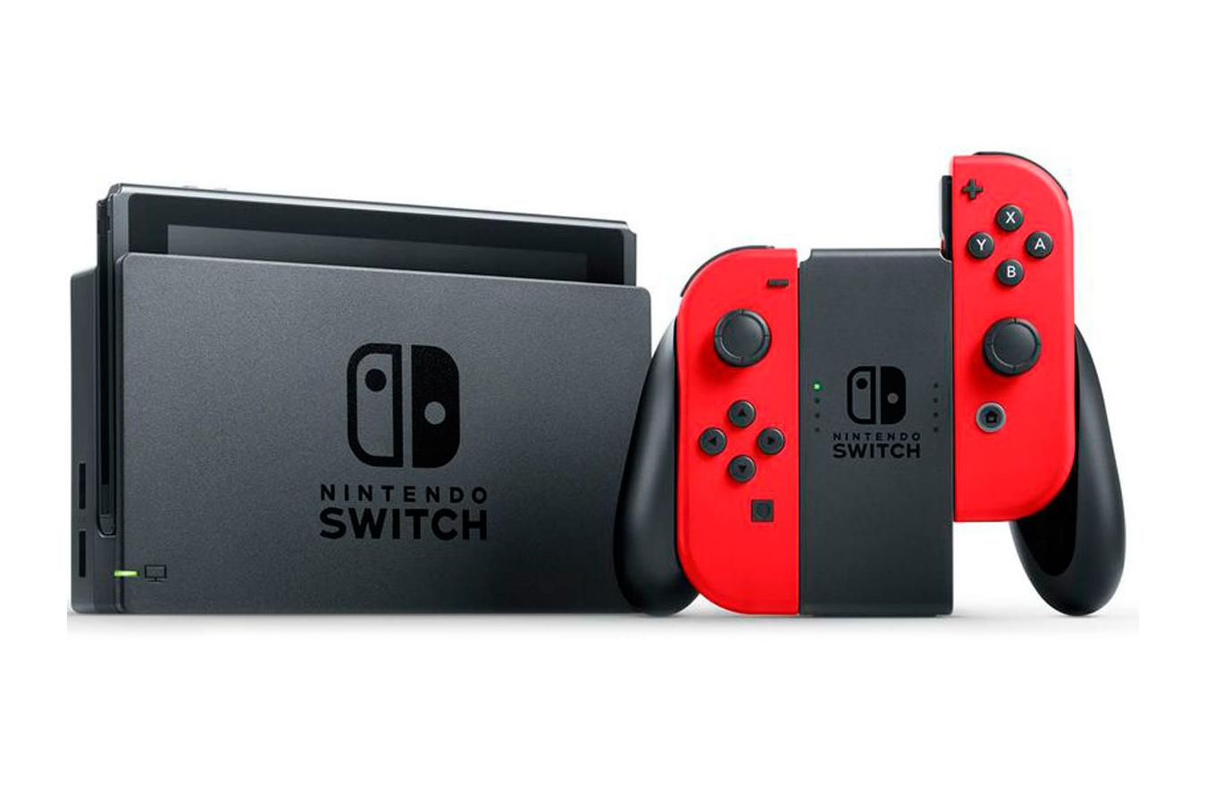 Switch красная и Mario Odyssey изображение 2