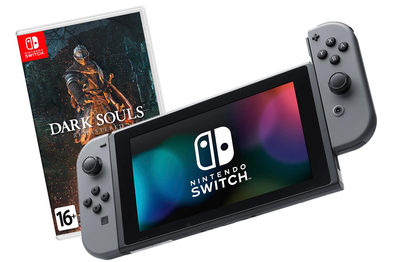 Nintendo Switch Bundle серая и Dark Souls: Remastered [NSCFDS]