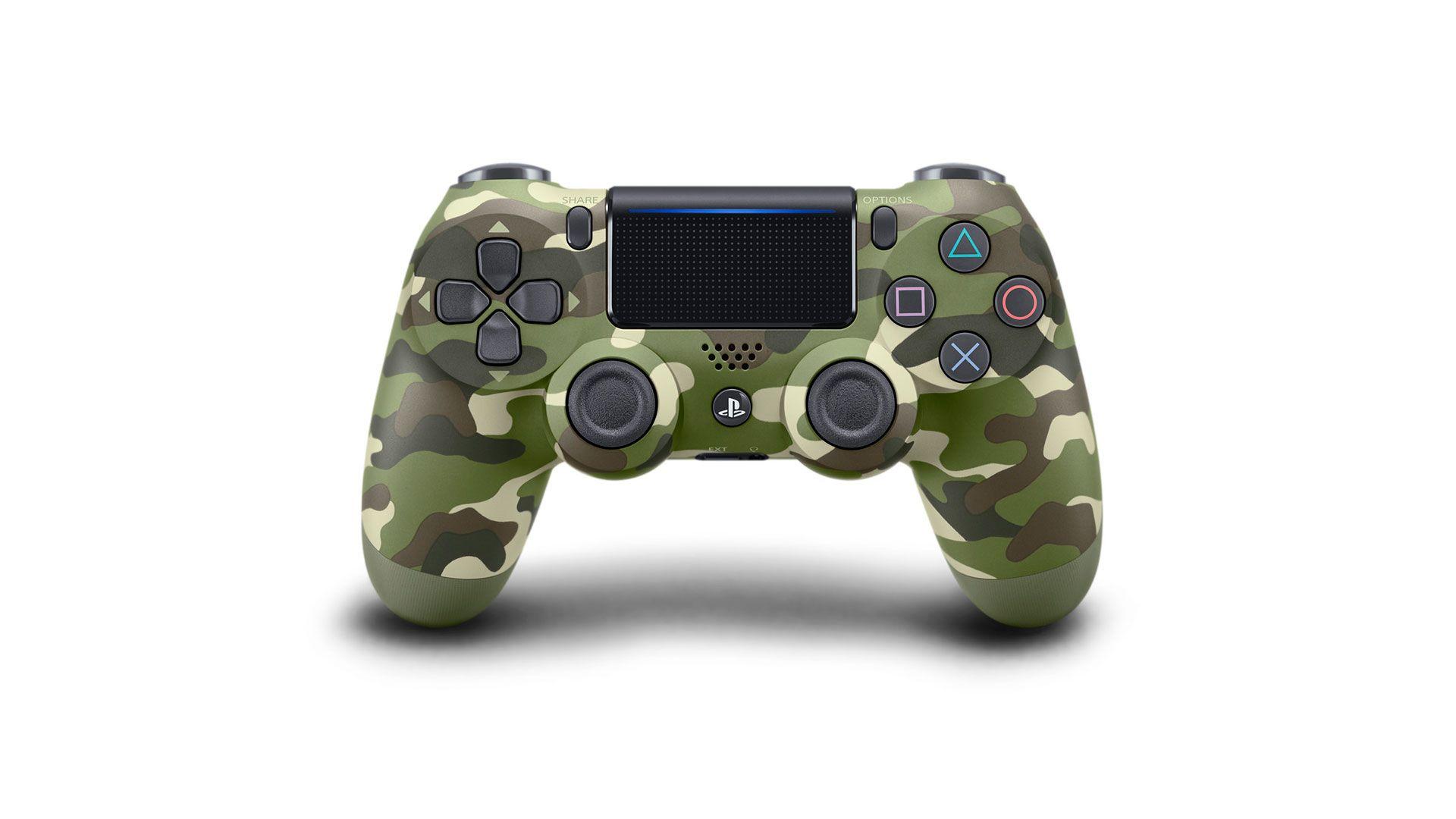 Sony DualShock 4 V2 геймпад для PS4 зеленый камуфляж [PS4DSGC]