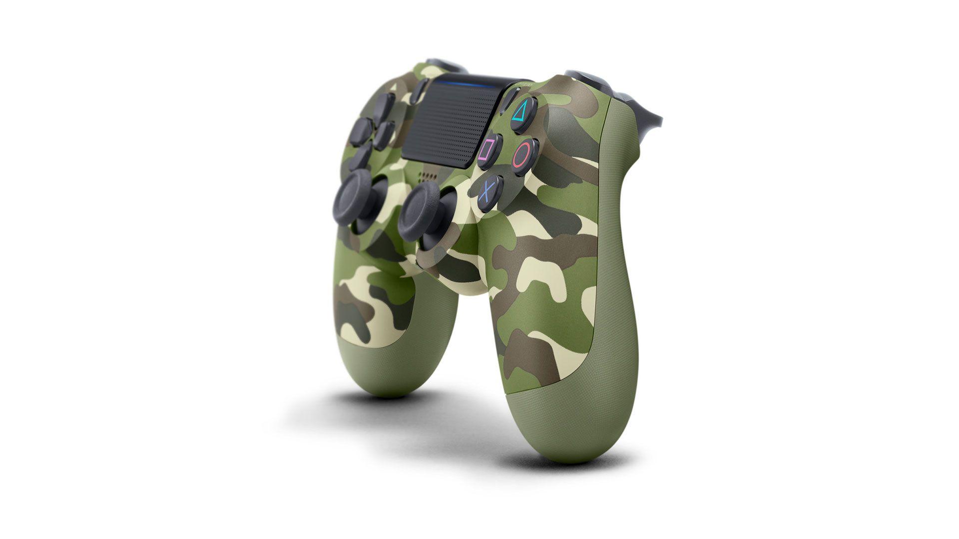 DualShock 4 зеленый камуфляж изображение 0