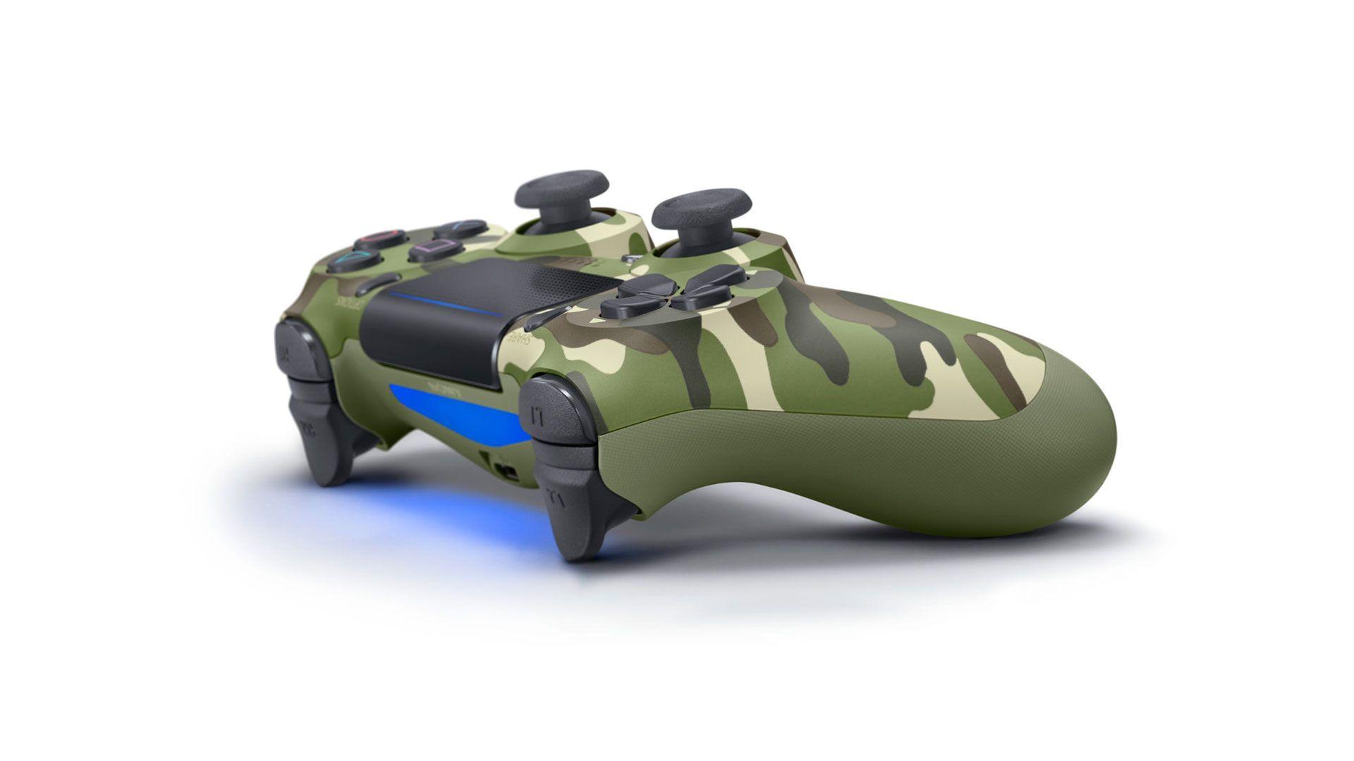 DualShock 4 зеленый камуфляж изображение 1