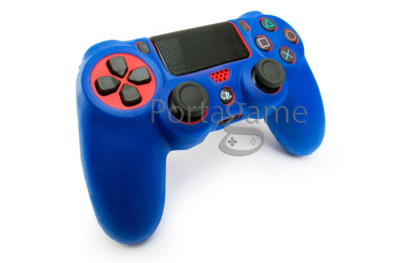 DualShock 4 силиконовый чехол Синий [PS4JYBL]