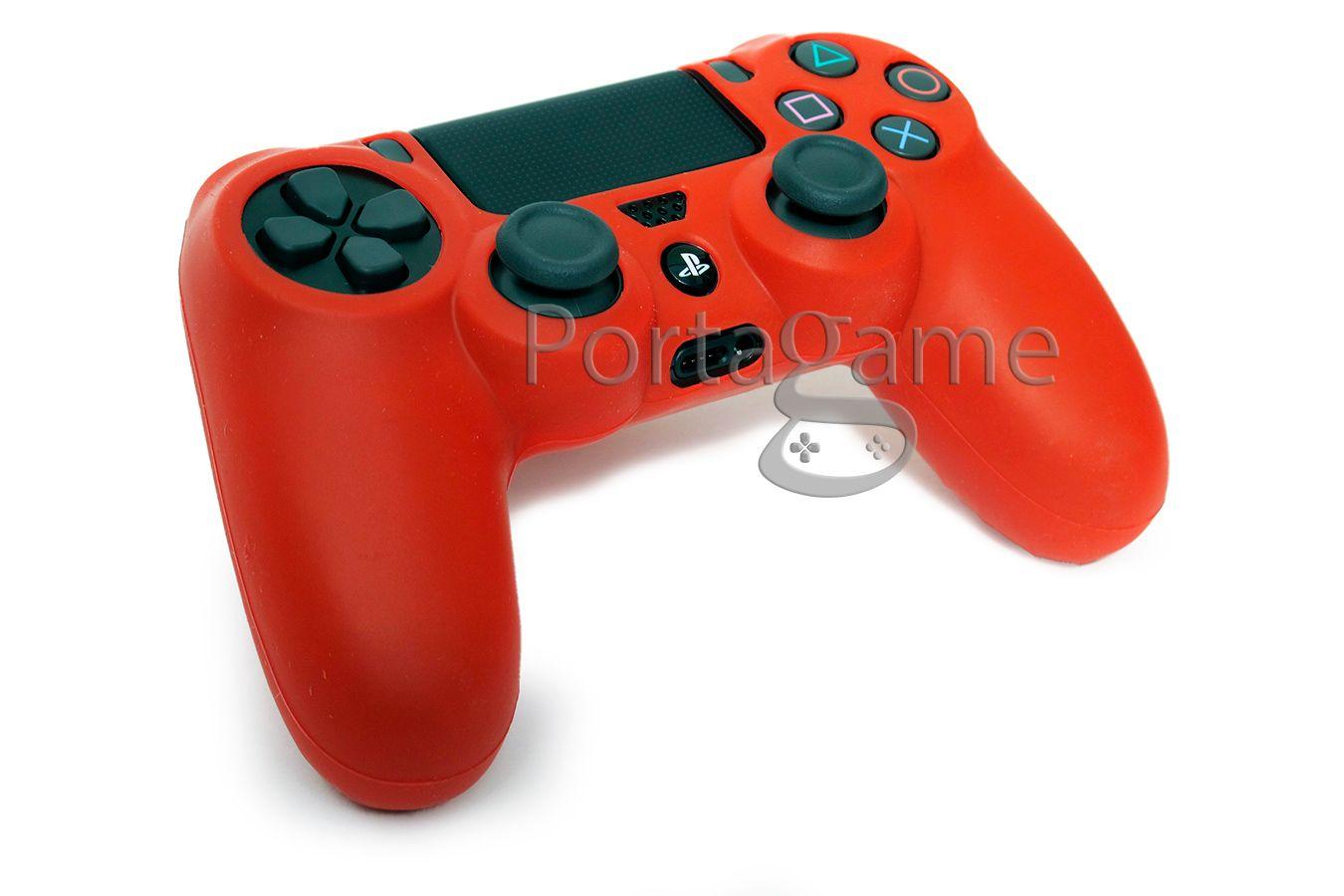 Чехол DualShock 4 силиконовый красный [PS4JYR]