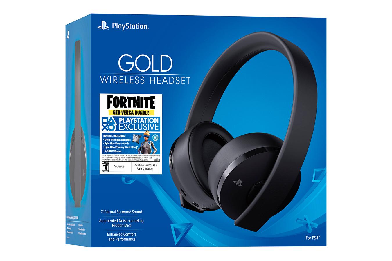 Sony Wireless Headset Gold Fortnite bundle [PS4SHFB]