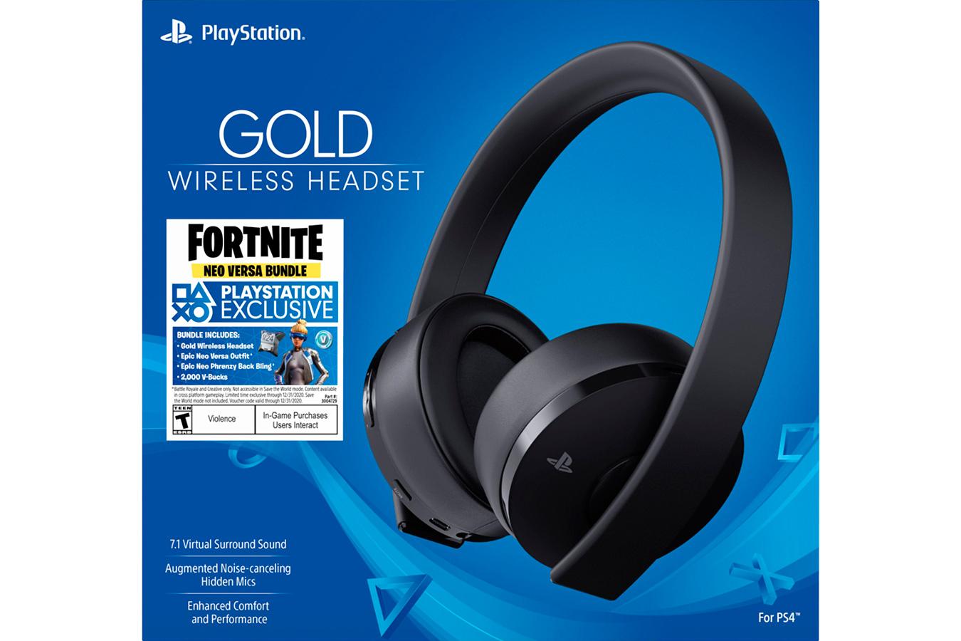 Headset Gold Fortnite изображение 0