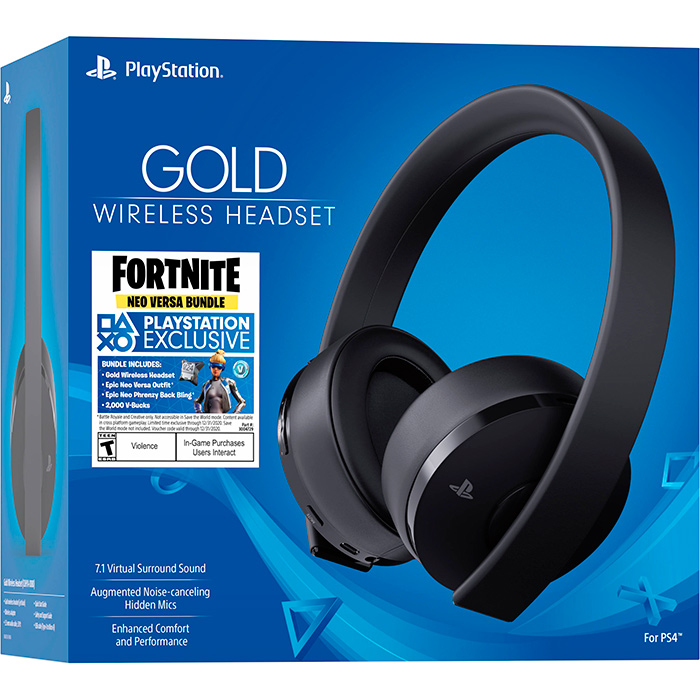 Headset Gold Fortnite