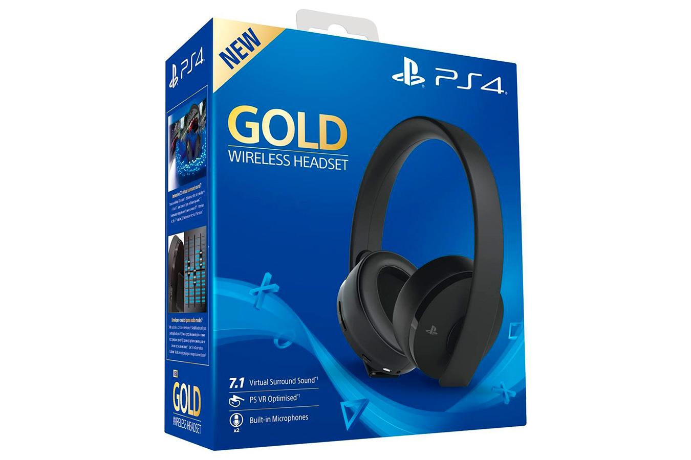 Sony Wireless Headset Gold беспроводная гарнитура [PS4SHGO]