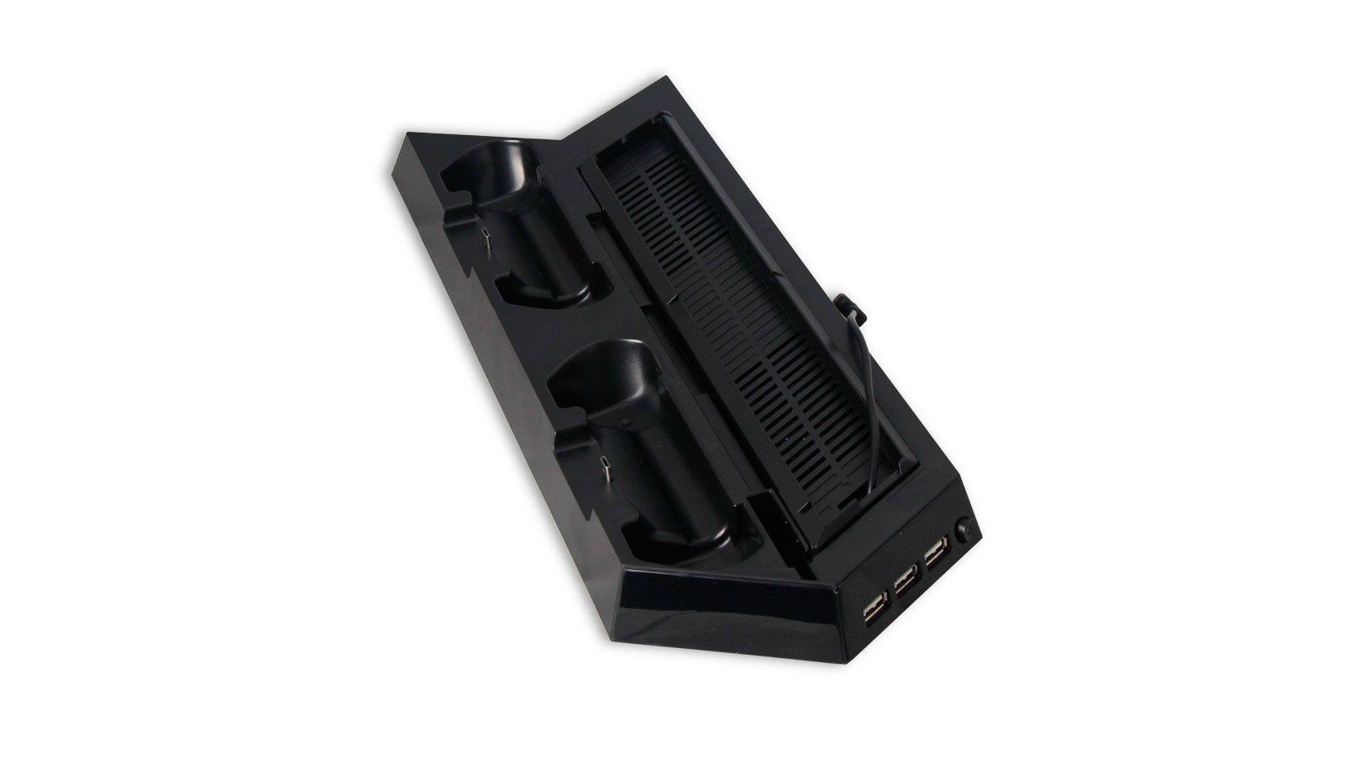Вертикальный стенд с зарядкой для PlayStation 4 черный [PS4ST21]