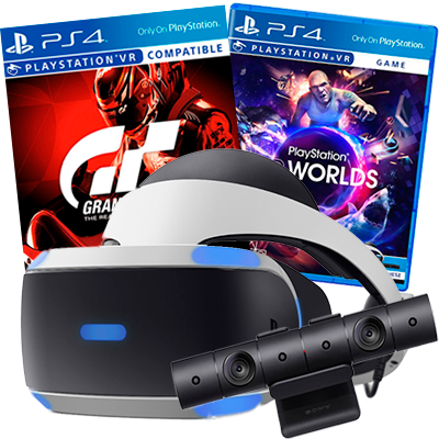 sony playstation vr набор gt sport и vr worlds bundle [psvr-gb]