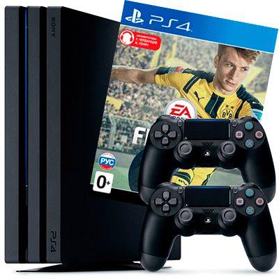 PlayStation 4 Pro FIFA 17 2 джойстика