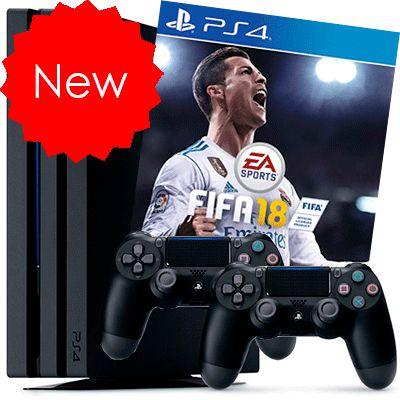 PlayStation 4 Pro FIFA 18 2 джойстика