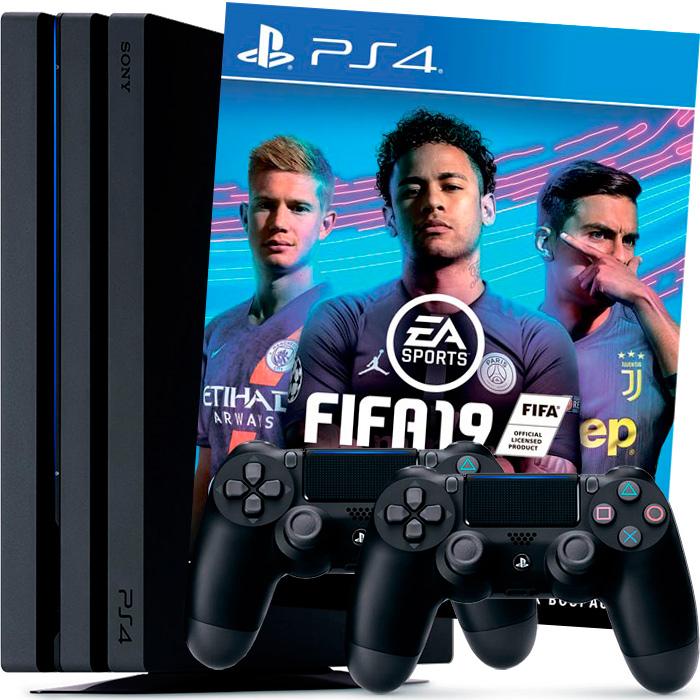 PS4 Pro FIFA 19 2 джойстика