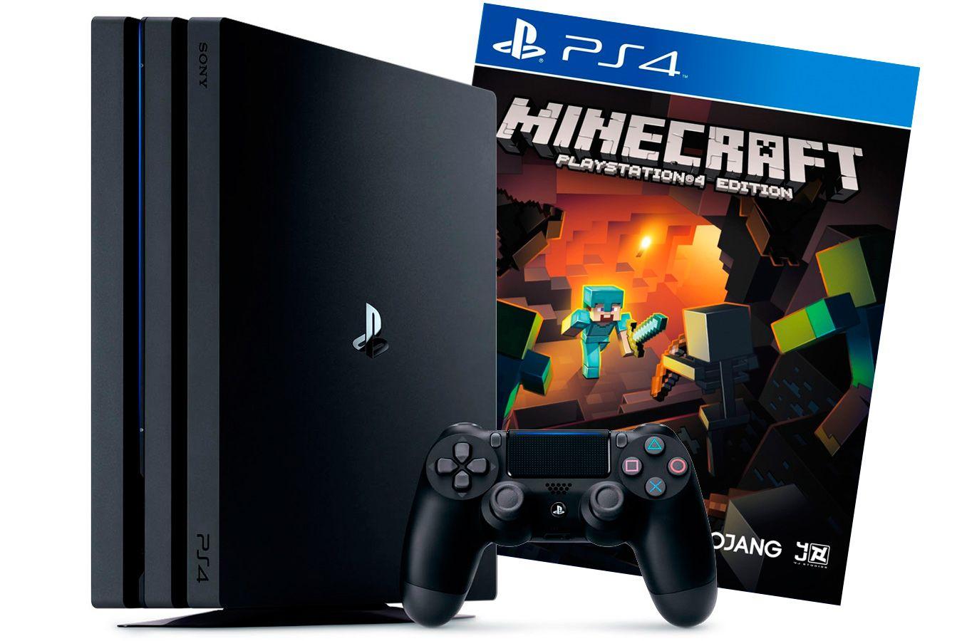 PlayStation 4 Pro игровая приставка с игрой Minecraft [PS4P1MK]