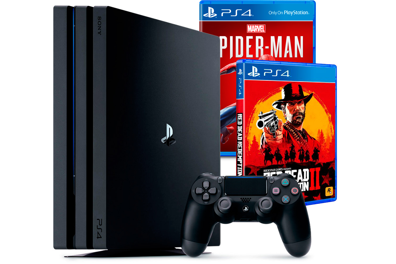 PlayStation 4 Pro c играми Red Dead Redemption 2, Spider Man [PS4P1RDR2SPE]
