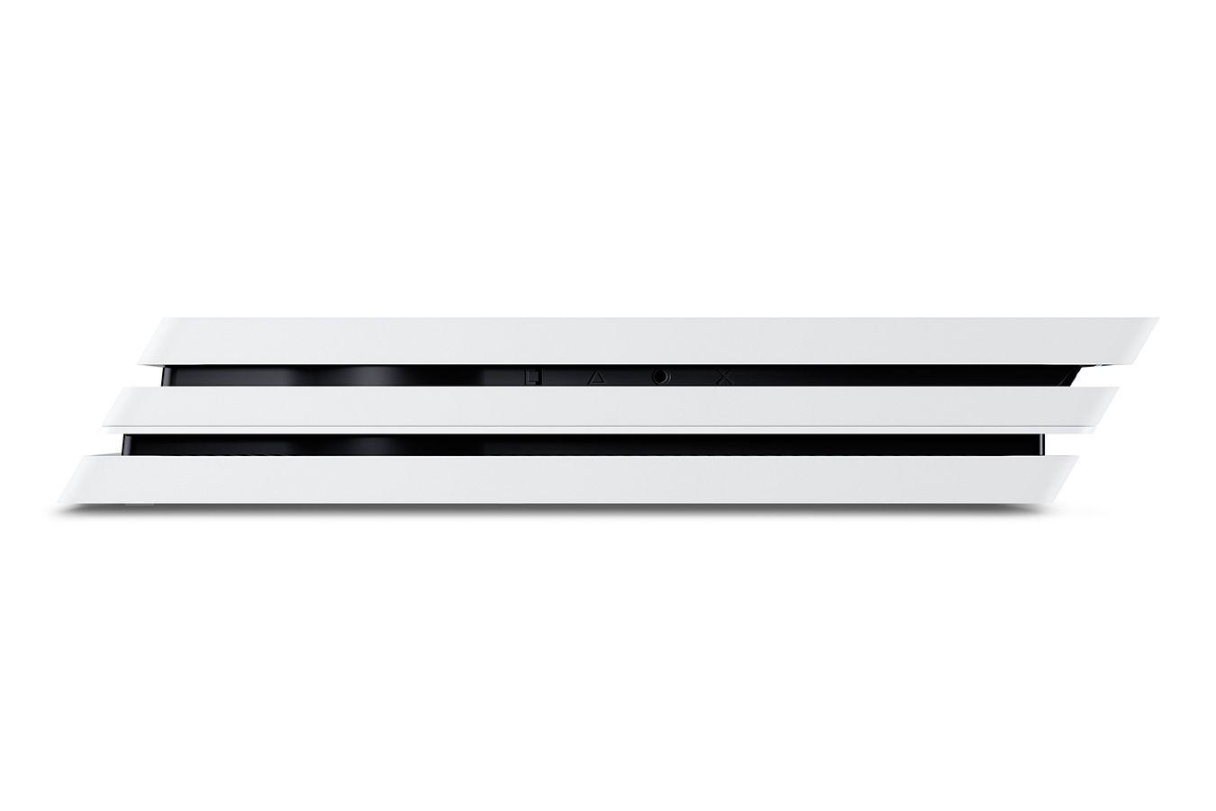 Белая PS4 Pro 2 джойстика изображение 0
