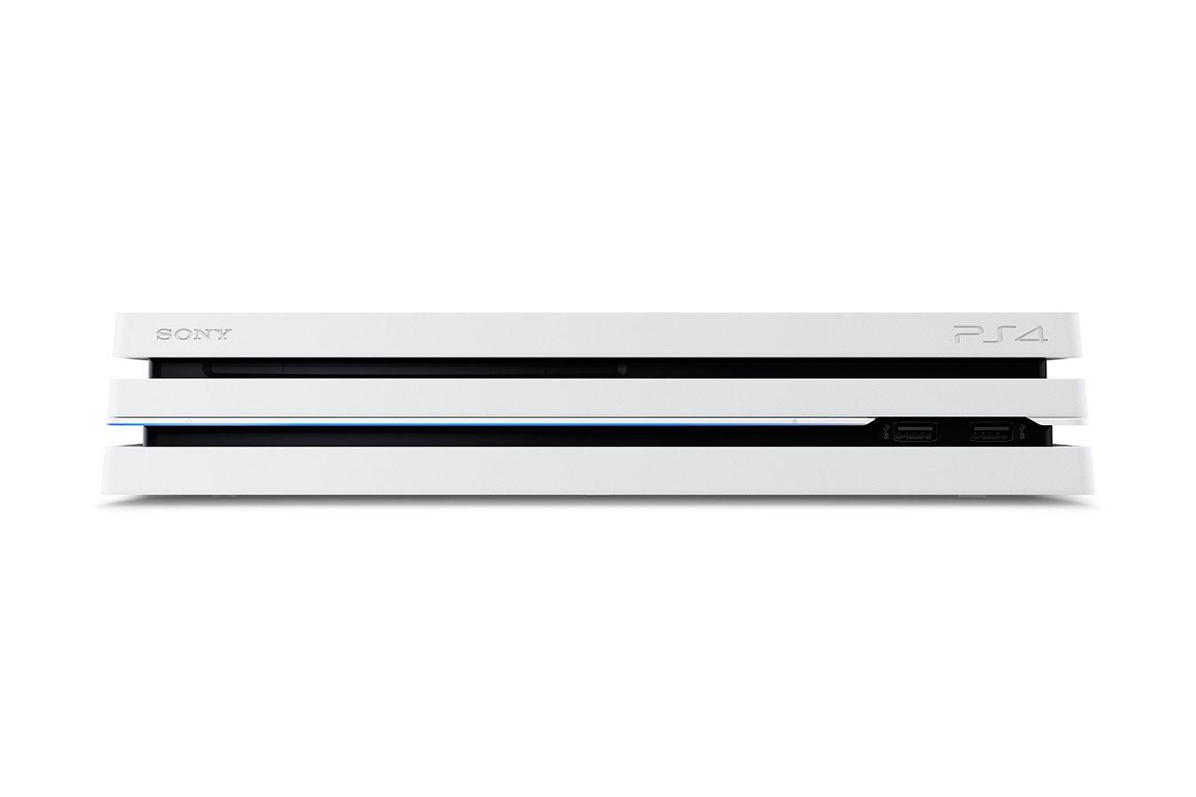 Белая PS4 Pro 2 джойстика изображение 2
