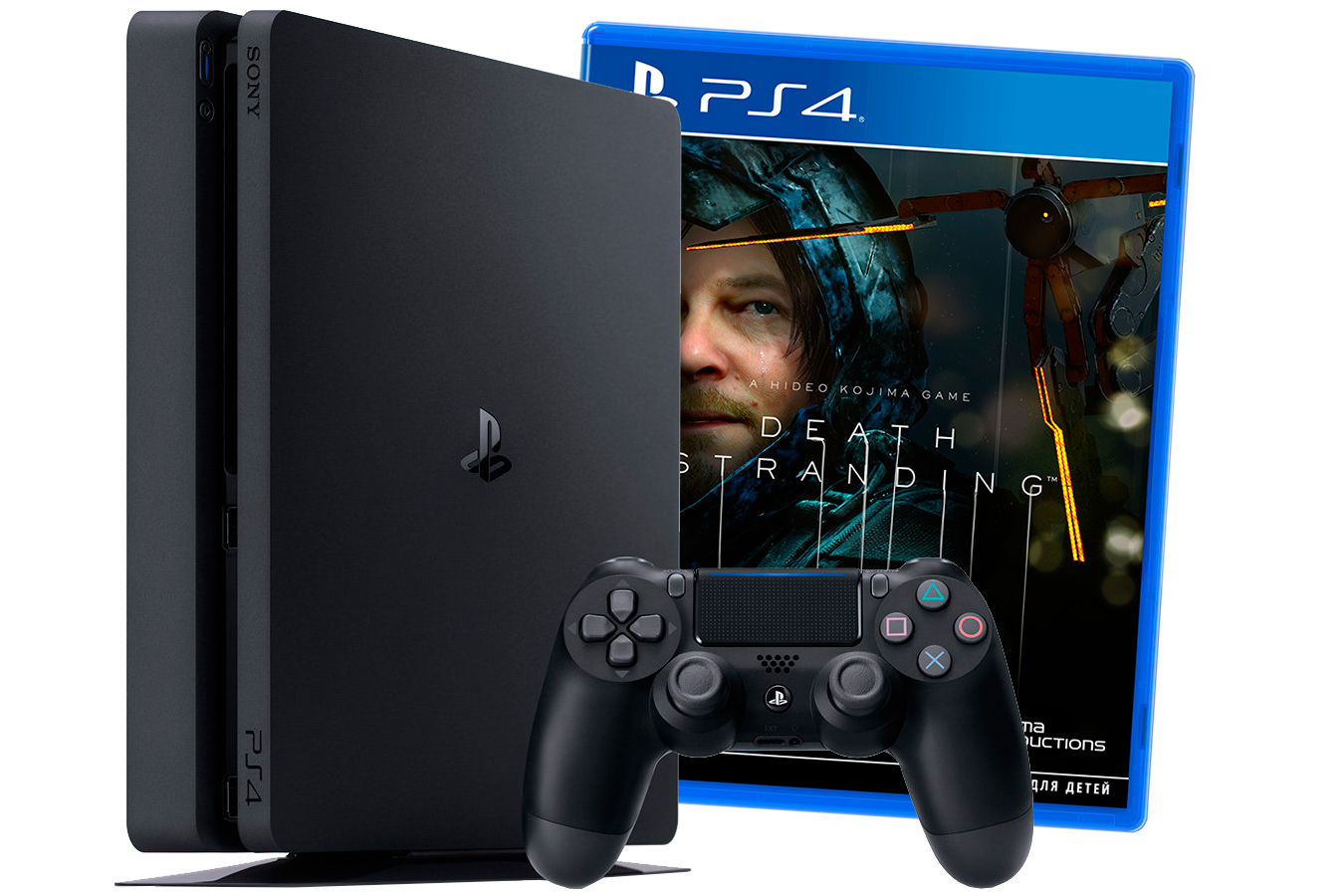 PlayStation 4 1Tb игровая приставка с игрой Death Stranding [PS4S1DST]