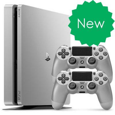 PS4 Slim 500Gb Серебряная