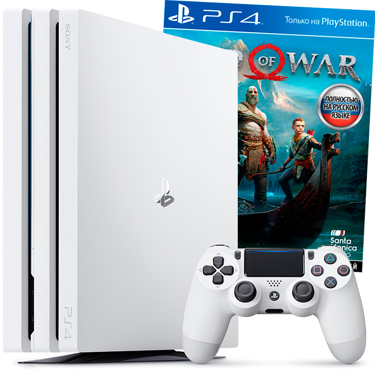 Белая PS4 Pro и God of War 2018
