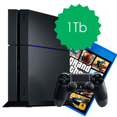 PlayStation 4 1Tb и GTA 5