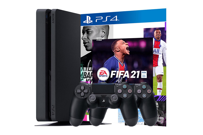PlayStation 4 500Gb 2 джойстика, с игрой FIFA 21 [PS4S5J2F21]