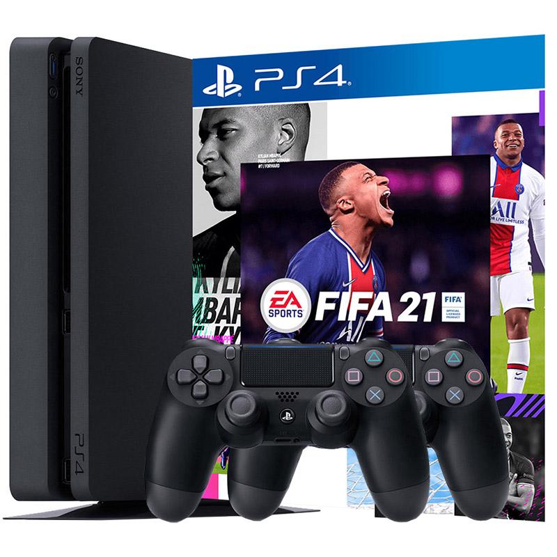 PS4 500Gb FIFA 21 2 джойстика