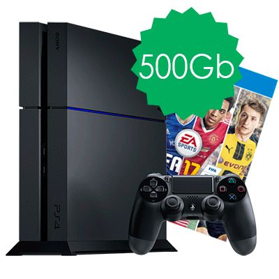PlayStation 4 500Gb и FIFA 17