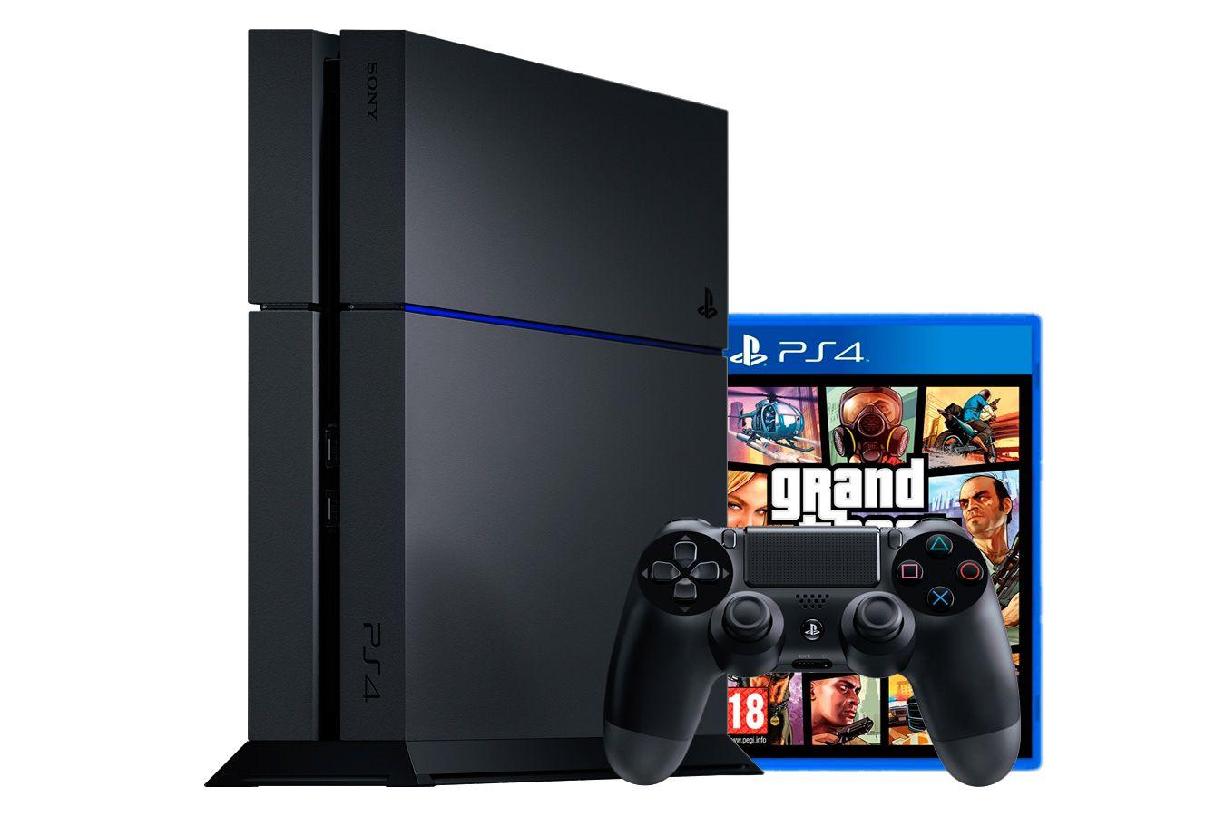 PlayStation 4 500Gb игровая приставка с игрой GTA 5 [PSF45G5]