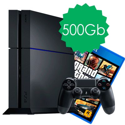 PlayStation 4 500Gb и GTA 5