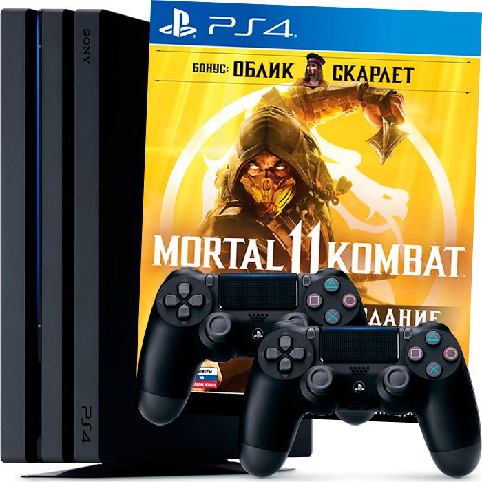 PS4 Pro Mortal Kombat 11 и 2 джойстика