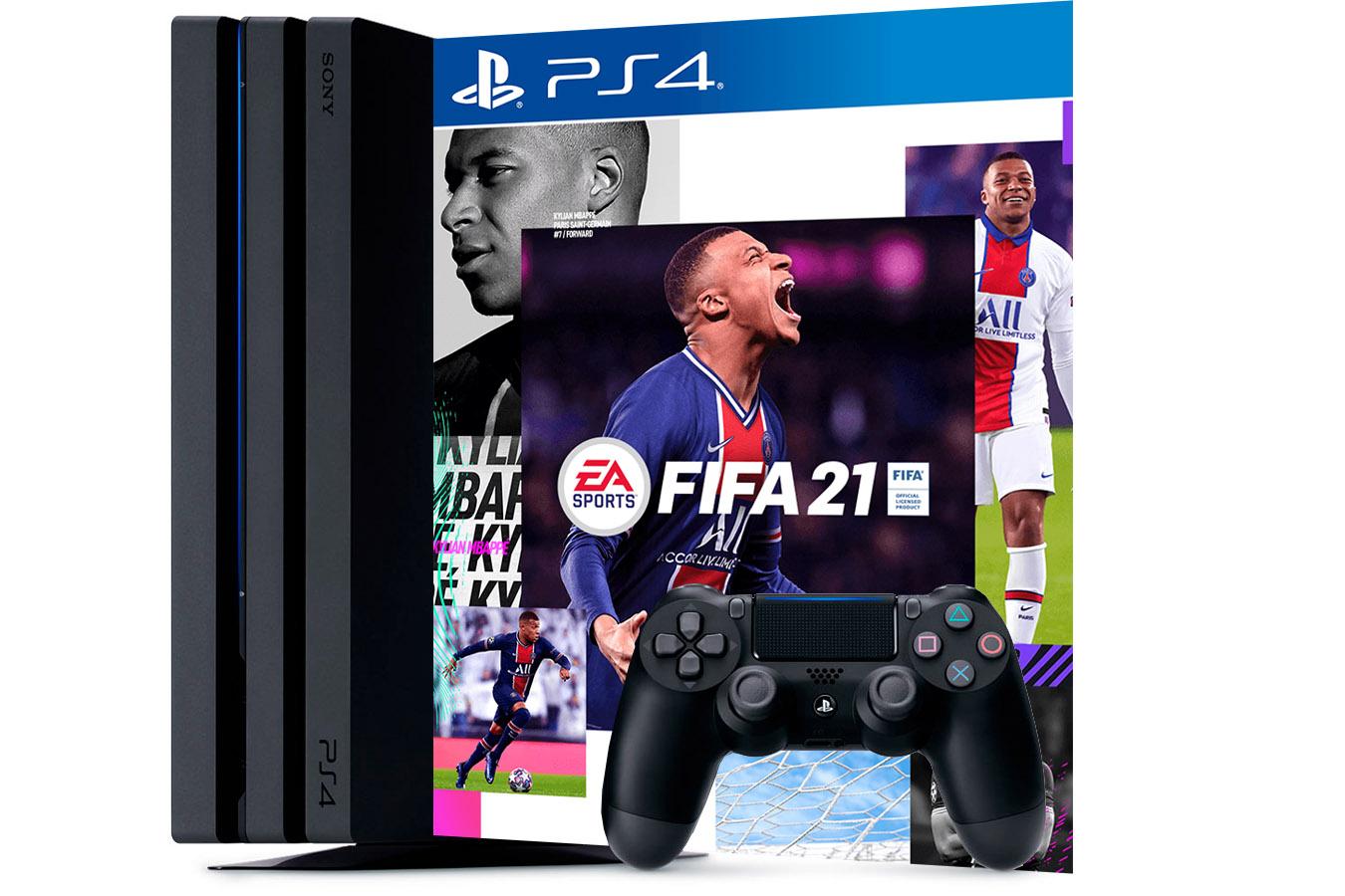 PlayStation 4 Pro приставка с игрой FIFA 21 [PS4P1F21]