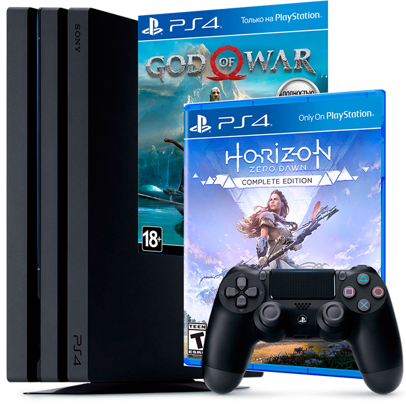 PS4 Pro и 2 игры