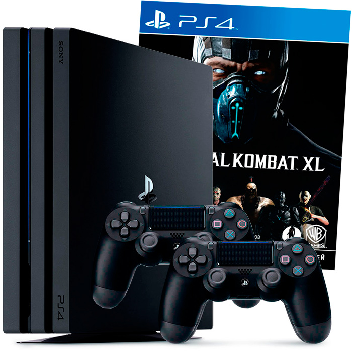 PS4 Pro Mortal Kombat XL 2 джойстика