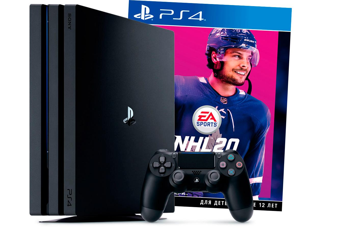 PlayStation 4 Pro приставка с игрой NHL 20 [PS4P1N20]