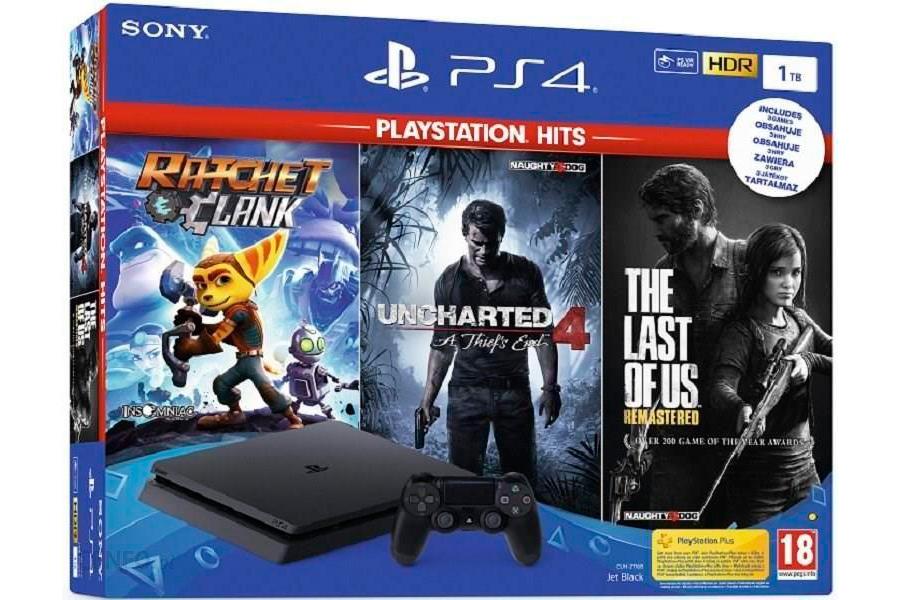 PlayStation 4 Slim 1Tb и 3 игровых хита [PS4S13Hi]