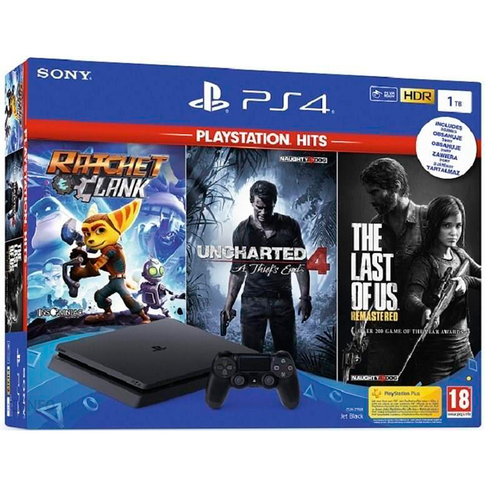 PS4 Slim 1Tb и 3 хита