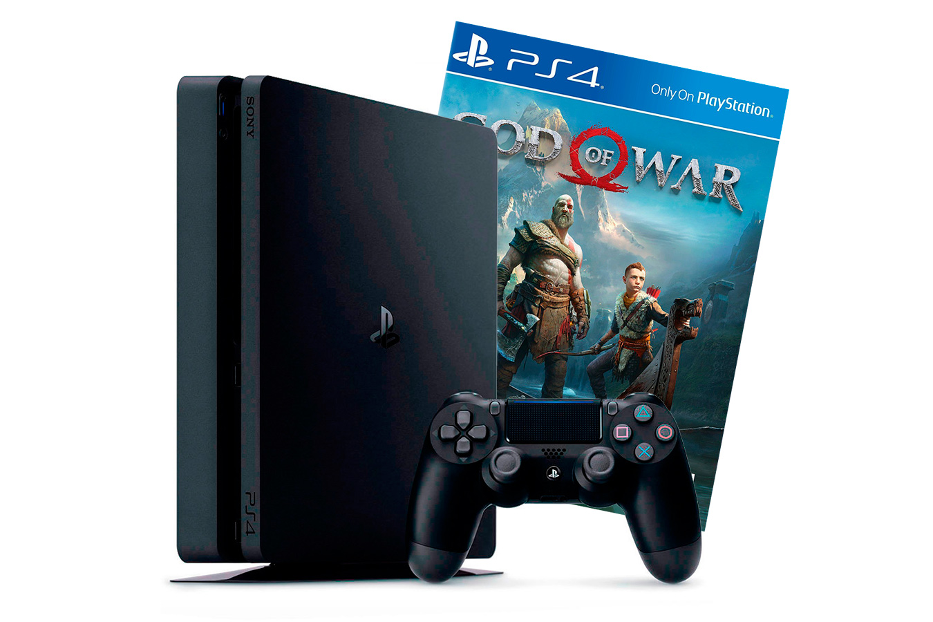 PlayStation 4 Slim 1Tb с игрой God of War 2018 [PS4S1GW18]