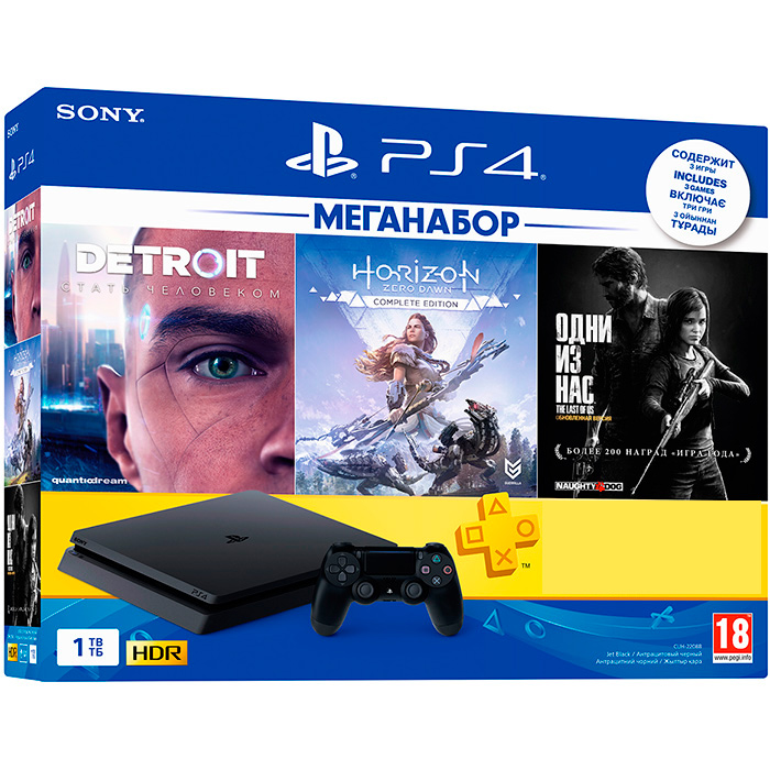 PS4 Slim 1Tb меганабор
